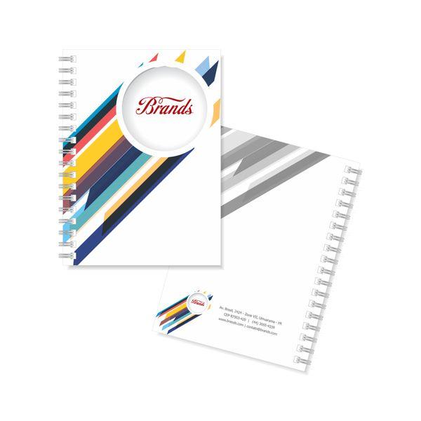 0a31129a3 50 Cadernos Personalizados - 14x20cm - Capa Dura 4x0 - 200 Pgs 1x1 - Miolo  Permanente - Laminação Fosca